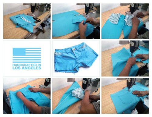 Japanese Bull Denim 3 x 1 Turquoise Handcrafted In Los Angeles