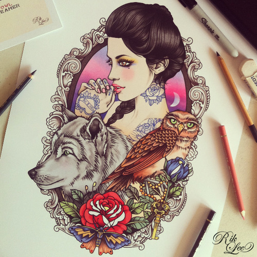 farewelltoshadyglade:  Oh wow, this is great. Would love this as a tattoo please.
