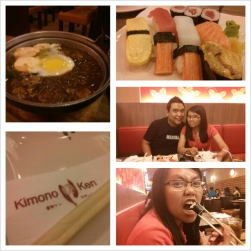 Dinner naman sa Kimono Ken after watching Iron Man 3… Tony Stark will return..  ;)