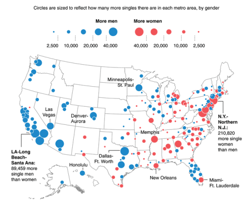 explore-blog:  An interactive singles map of the U.S.