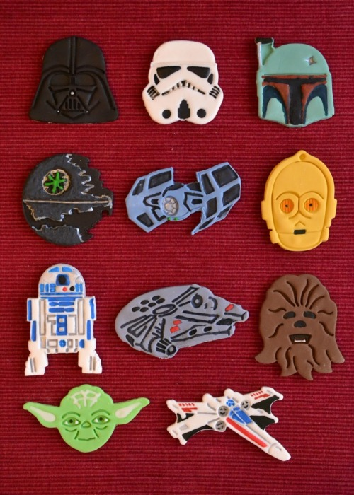 "Vegan Star Wars cake toppers…OMG. I believe ""rad"" is the appropriate word."