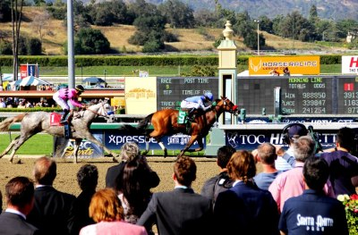 That awkward moment when Goldencents becomes a G1 winner. (Photo by HRTV)