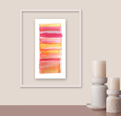"title: SHERBET9.5"" x 5.5"" Can be displayed horizontally or vertically and is signed + dated on the back. Would look great in a floating frame or custom matted and framed. Comes in a clear, protective acetate sleeve with a stiff backing."