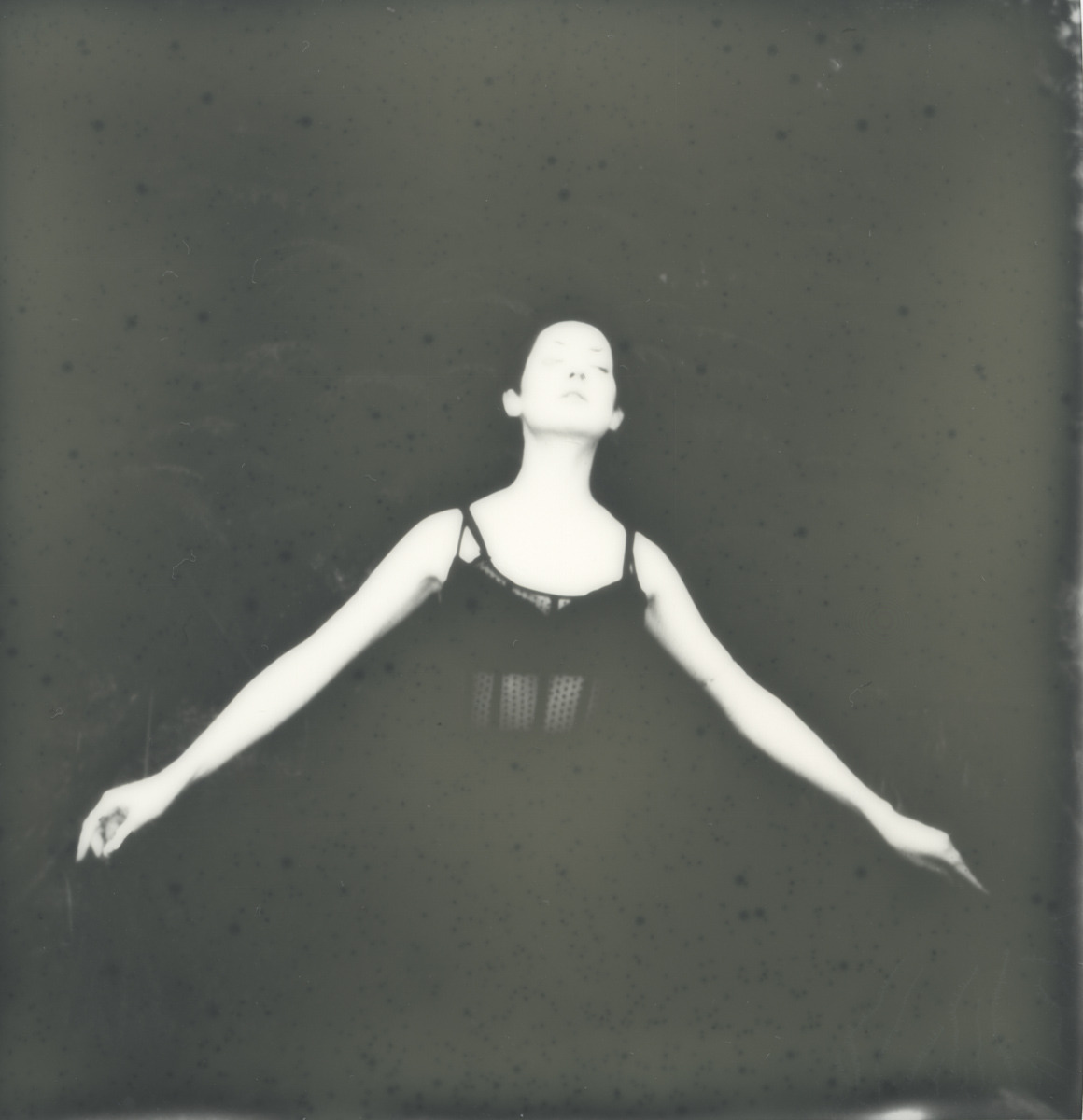 Model: Amanda Hatheway Taken using PX 600 Silver Shade Impossible Project Film