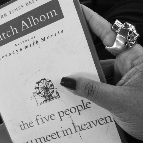 My summer read.  So far so great.  #MitchAlbom #summer #downtime