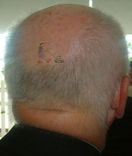Great tattoo for the nearly bald.