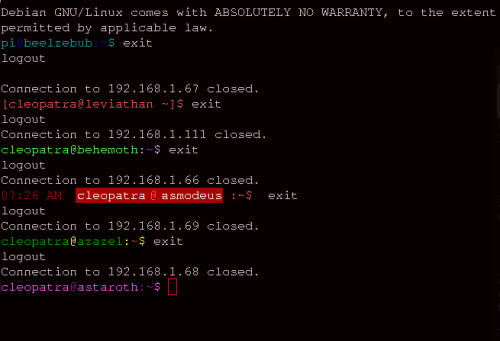 My machines getting out of the SSH-eption. (I should probably get some sleep though, goodnight people!)