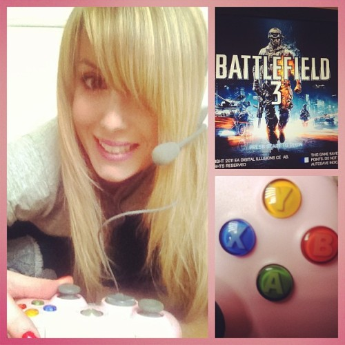 Online time!!! #battlefield3 #xbox360 #grenades #girlsintanks