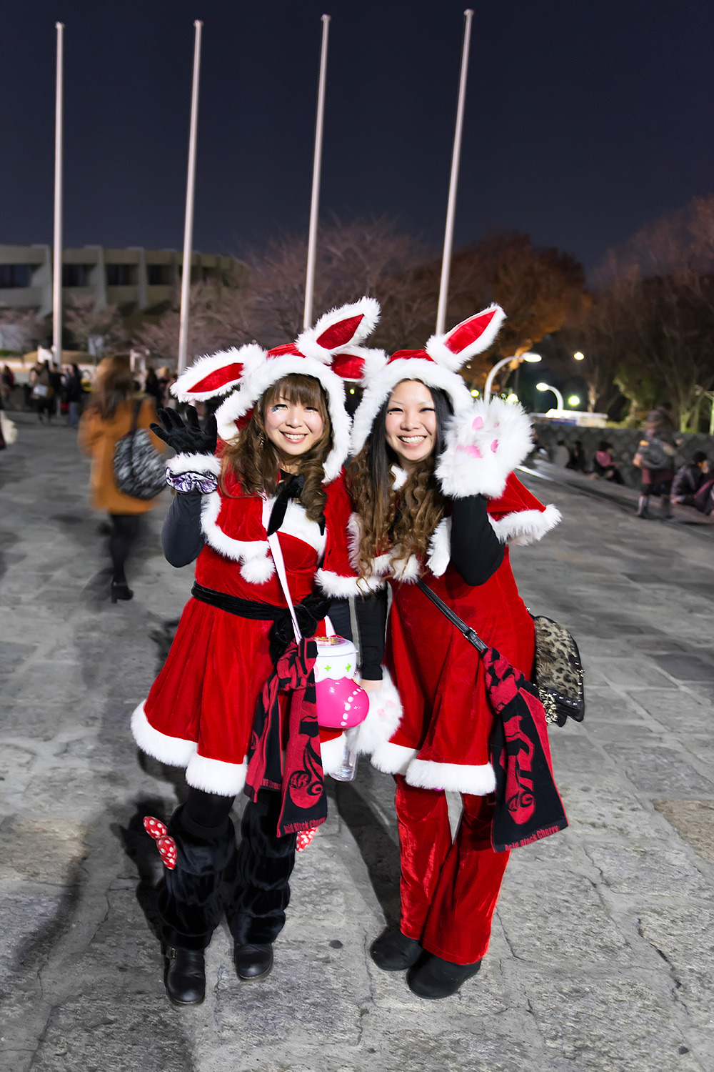 Fun Acid Black Cherry Christmas Bunnies outside of the band's 5th Anniversary Concert in Harajuku.
