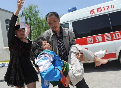 Quake kills more than 150, injures about 5,500 in China (Photo: AP) BEIJING - A strong 6.6 magnitude earthquake hit a remote, mostly rural and mountainous area of southwestern China's Sichuan province on Saturday, killing at least 156 people and injuring about 5,500 close to where a big quake killed almost 70,000 people in 2008. Read the complete story.