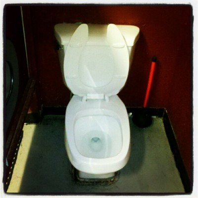 Square jaw. East Bank Saloon, SE Portland #toilet, #toiletsfromlastweek, #eastbanksaloon, #pdx