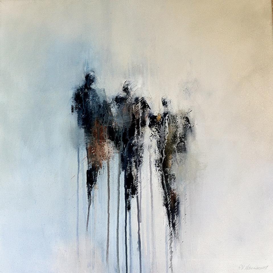 Ruthie Ashenhurst | on Tumblr - The meeting. Acrylic on canvas [found at iamjapanese]