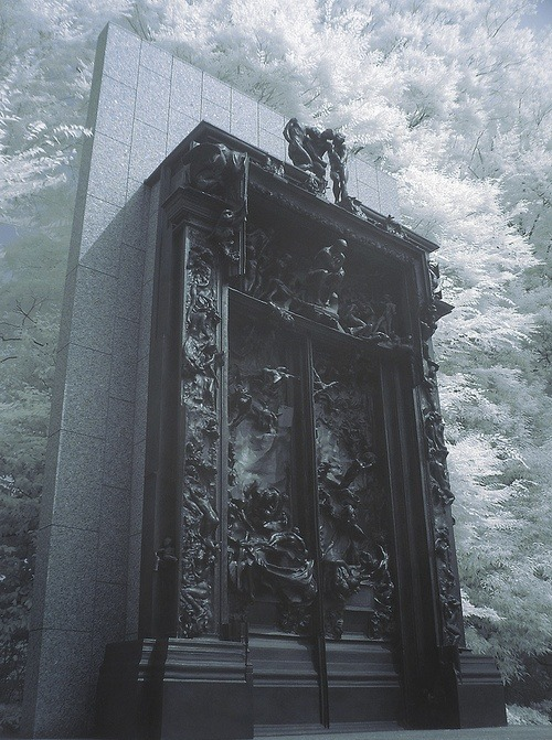 marthajefferson:  stolenbytigers:  Rodin, La Porte de l'Enfer (Gates of Hell), 1880Well, hello Stanford Campus! (I swear the Cantor Art Center has a puzzlingly large collection of Rodin. Jane Lathrop Stanford must have been a huge fan)