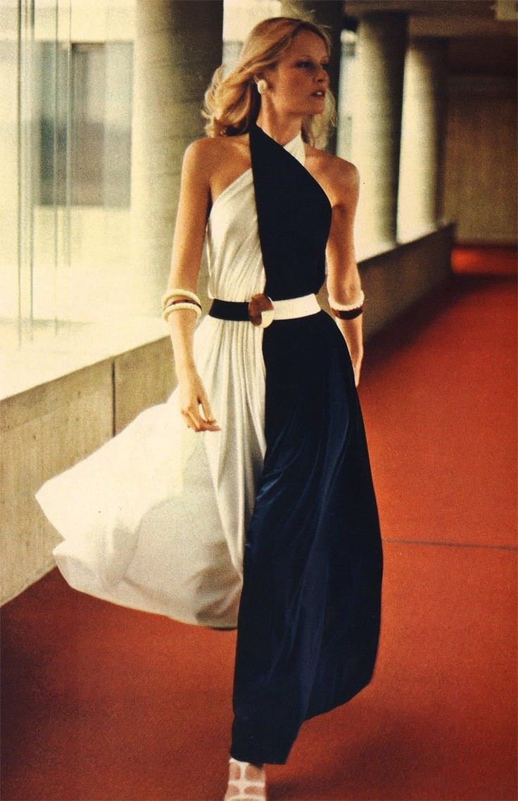 starrysilence:  Color Block Halter Culotte by Irene Galitzine, 1972