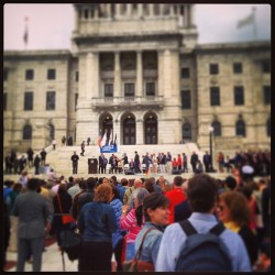 Marriage equality about to be signed into law! #rhodeisland  (at Rhode Island State House)