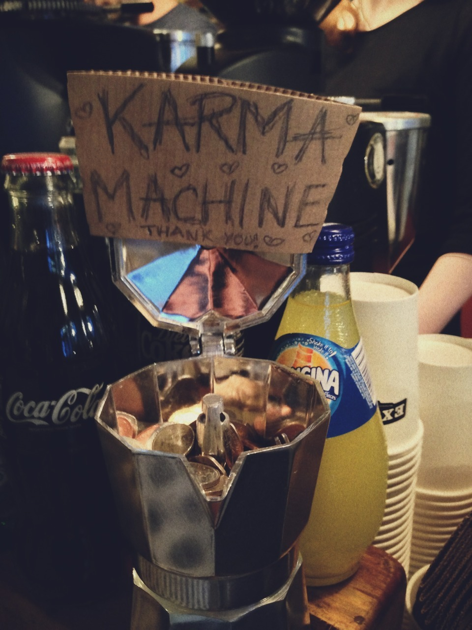 """Karma Machine"" (Exmouth Coffee Company, Shoreditch)"