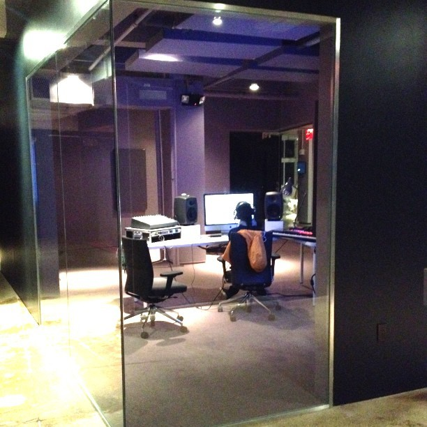Late night at Red Bull Music Academy HQ. #music #rbma #studio #nyc #redbullmusicacademy