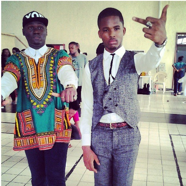 thegoldieiyamu:  With my bro @ifeanyinwune .Redefinition Fashion show '13 .