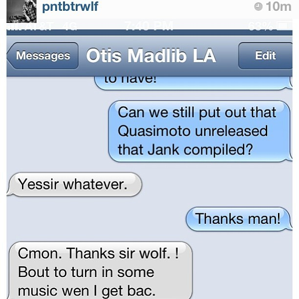 @pntbtrwlf explaining the title for the latest @quasimoto release… #regram #peanutbutterwolf #quasimoto #madlib #stonesthrow