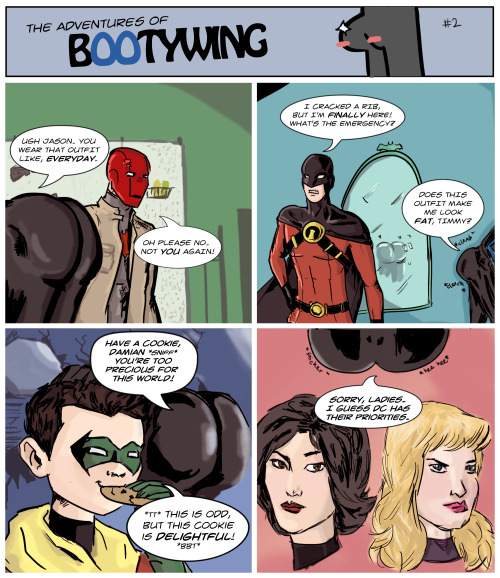 batman-blog:  cartoononmyarms:  Bootywing #2 - Dick Grayson's Kawaii Shit-Talking Butt. [DA]  http://batman-blog.com/