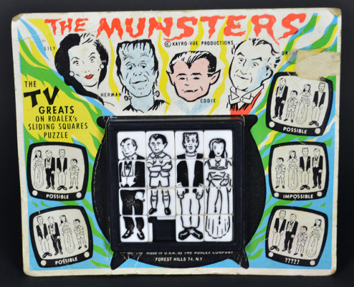 The Munsters Sliding Tray Puzzle (1964)