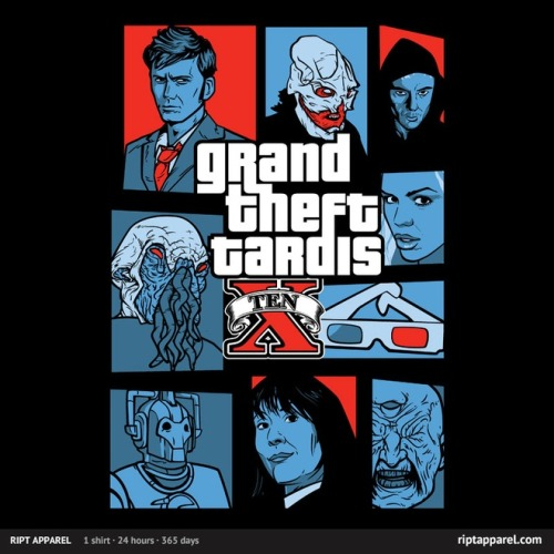 gamefreaksnz:  Grand Theft Tardis 10 by nikholmes USD $10 for 24 hours only Follow the artist on Tumblr