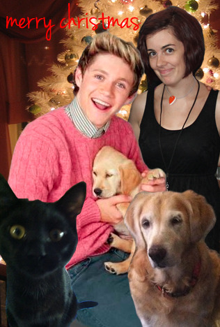 MERRY CHRISTMAS EVERYONE XO NIKKI, NIALLER, MADDEN, SWARLEY AND CUTE LIL PUPPY