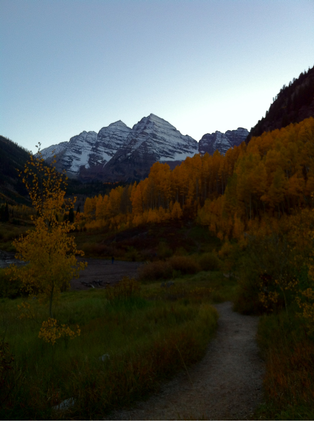 Autumn in aspen colorado and the beautiful maroon bells.