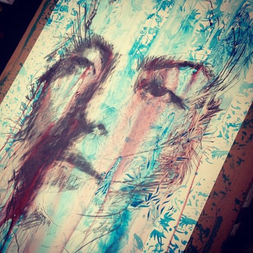 carnegriffiths:  Nice to be back in the studio … (at Studio 4, Norlington Road)
