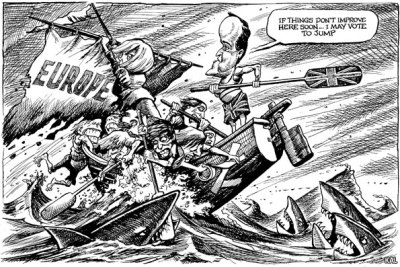 KAL's cartoon: this week, choppy waters.