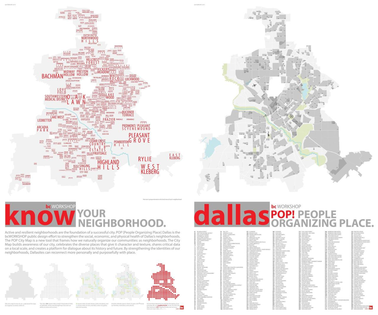 mapsontheweb:  Map/infographic of Dallas' nearly 400 hoods