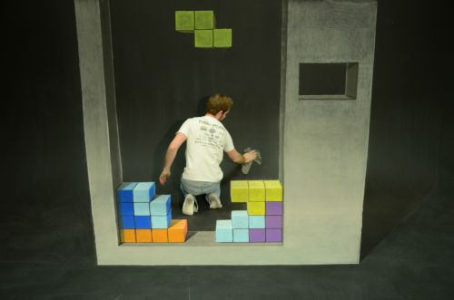 Tetris stop-motion animation Soft pastel chalk on a cyclorama wall March 2013 See the full animation here: http://www.youtube.com/watch?v=y0_lw5QXSvk