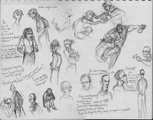 Drew some rough initial sketches of the Poe and Lovecraft based Underground kids. Oh my goodness I can TOTALLY see why ladies were hitting on Poe constantly while he was alive now. He was a super cutie. Like…natural animu eyes man. You could write some kind of super emo sad romance around his actual life too. And he was apparently pretty chaste despite all the rumors of his licentiousness. Though maybe that was just the opinion of the biography I watched. Lovecraft however, is a freak. He sounded like that dick who is interesting but you take in small doses because oh man is he an ass. But then Poe was a huge asshole too. They, of course, will not be named Poe and Lovecraft. That's dum. Names to be decided later.