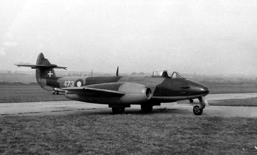 Gloster Meteors - Britain's First Jet Fighter…Image #1: A Mark IV in Danish service.