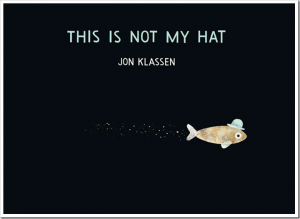 "The dark comic fun of I Want My Hat Back has returned, only this time we get the story from the perspective of the thief! This tiny daring fish is not at all worried, even though the fish he ""borrowed"" his hat from is much bigger. It looks better on him anyway. And no one knows he took it, and no one knows where he's going now, and no one will ever find him. Or will they? The art (as always) is perfect, and the sneaky fish's bravado trumps the cranky bear's bewilderment, no contest. Growing Up With Kick-Ass Sequels"