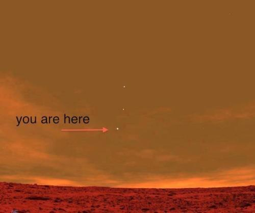 wickedlovelyperfectlyimperfect:  This is a picture from the Curiosity Rover on Mars showing Earth from the Perspective of Mars. You are literally looking at your home from the Perspective of another planet. Epic times indeed