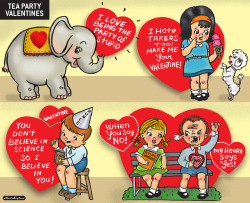 Vintage Tea Party Valentine Cards: A New American Affairs Desk Comic