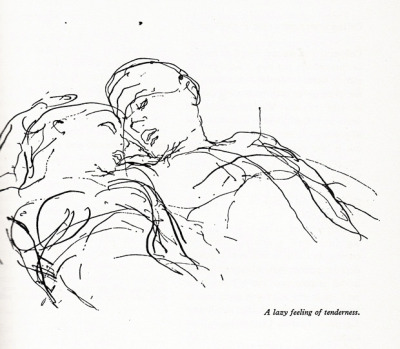 Illustration from 'An ABZ of Love,' Kurt Vonnegut's favorite vintage Danish guide to sexuality. (x)