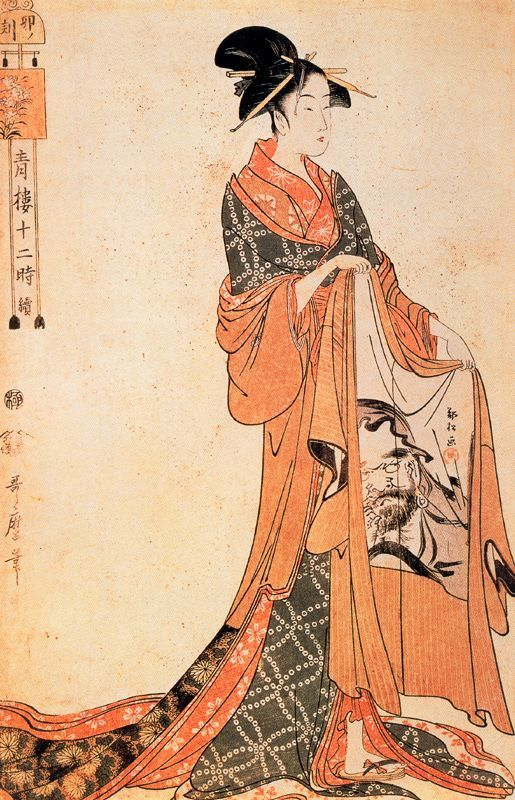 vi-ve:  The Hour of the Horse Kitagawa Utamaro