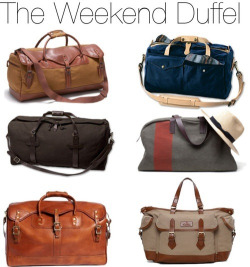 completewealth:  For those last minute getaways. File under: Travel, Duffle, Bags, Accessories, Leather