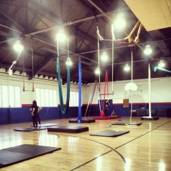 Aerial jam session! #aerial #altitudeaerials #silks #trapeze #lyra #harness #spanishweb #training #cirque #circus #circusfreak