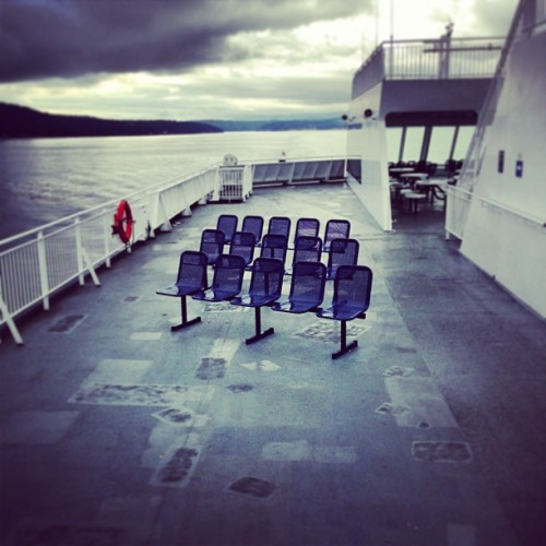 The chairs and i.  (at BC Ferry - Vancouver Bound)