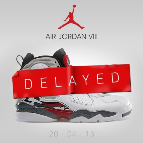 sizeofficial:  The Air Jordan VIII 'Bugs' has been delayed and will now release on Saturday 11th May! #size #air #jordan #bugs #sizehq