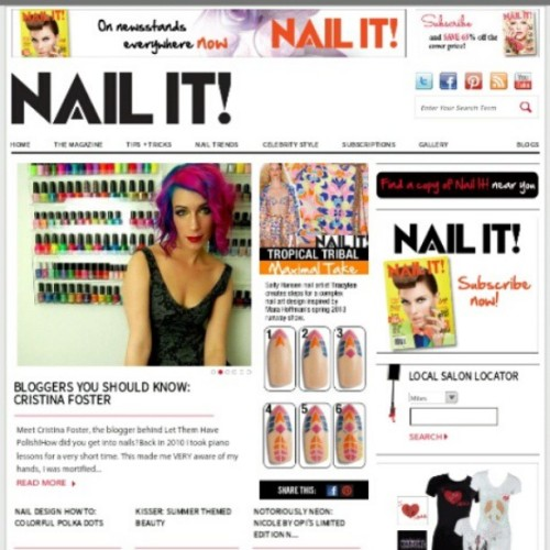 Look who's on the @nailitmag homepage! This is so exciting. Head to nailitmag.com to read a little interview with yours truly! #officialletthemhavepolish #nailitmagazine #nailitmag #nofilter #cflbeautyblogger #beautyblogger #bblogger