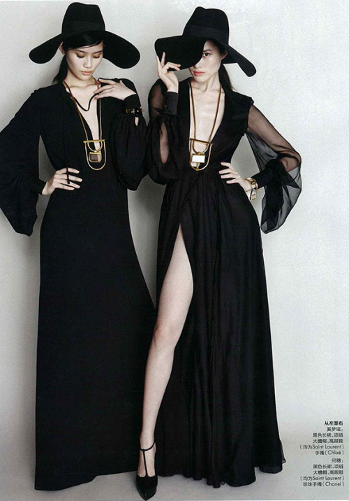 Ming Xi and Sui He for Elle China March 2013
