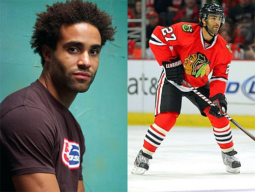 Johnny Oduya    (Kenyan/Swedish) [Swedish]    Known as:  Professional Hockey Player (Plays for the NHL's Chicago Blackhawks & The Swedish National Team; Previously played for the Winnipeg Jets/Atlanta Thrashers, New Jersey Devils, Frölunda HC)    More Information: NHL: Chicago Blackhawks: Johnny Oduya, Chicago Sun TImes: Defenseman Johnny Oduya has made big difference for Hawks, ESPN: Johnny Oduya, Johnny Oduya's Wikipedia page    Thanks to thesmallandmeek for suggesting today's Daily Multiracial!    Please feel free to suggest someone as a future Daily Multiracial!  Follow us: Twitter - Google+     DailyMulti Archives: By Date - By Name