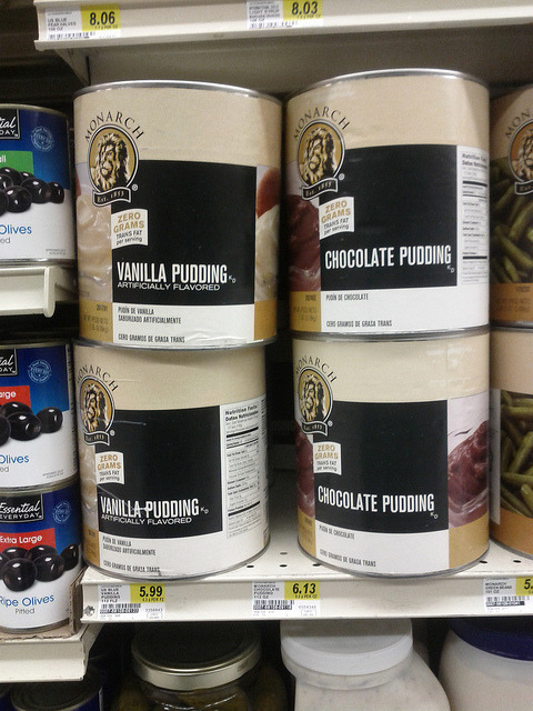 Pudding by the gross on Flickr.Yes, this is how I prefer to buy my pudding…