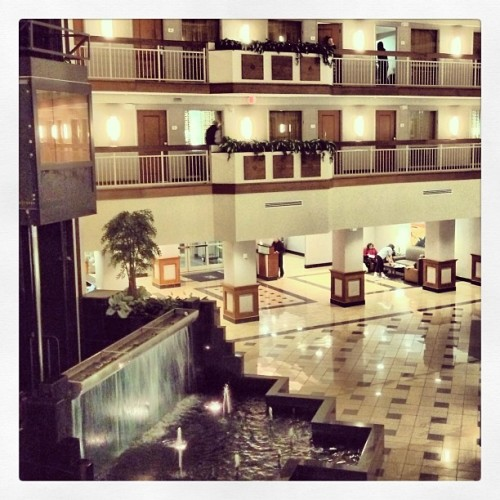 This hotel kind if feels like it's straight out of that movie Cedar Rapids… (at Embassy Suites Dulles-North/Loudoun)