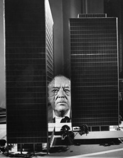 "life:  On Mies van der Rohe's birthday, LIFE celebrates a visionary who said of his stark, gorgeous designs: ""Romantics don't like my buildings. They say they are cold and rigid. But we do not build for fun. We build for a purpose."" Read more here. (Frank Scherschel—Time & Life Pictures/Getty Images)"