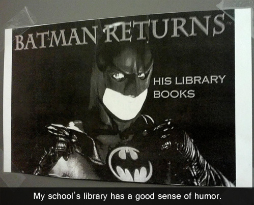 tastefullyoffensive:  [via]  Dreamlazer loves library-related jokes.